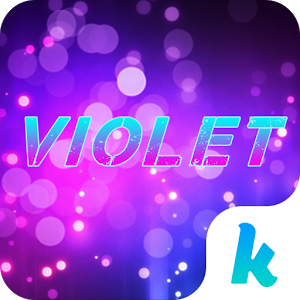 Violet Emoji Keyboard Theme