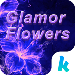 Glamor Flowers Keyboard Theme