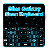 Blue Galaxy Neon Keyboard