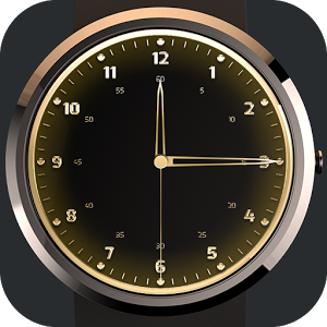 Gold Watch Face