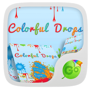 Colorful Drops Keyboard Theme