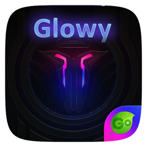 Glowy GO Keyboard Theme Emoji