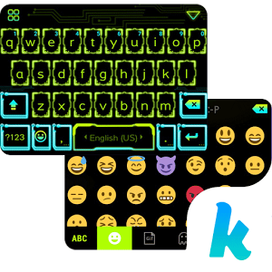 Neon Light Emoji Kika Keyboard