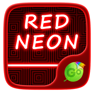 Red Neon GO Keyboard Theme